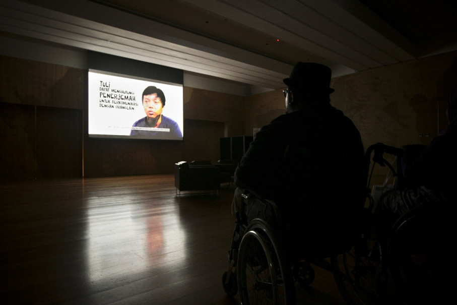 The event also includes screenings of inspirational videos. (JG Photo/Yudha Baskoro)