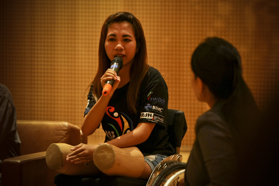 Ni Made Ratni is the captain of the Indonesian wheelchair rugby team. (JG Photo/Yudha Baskoro)