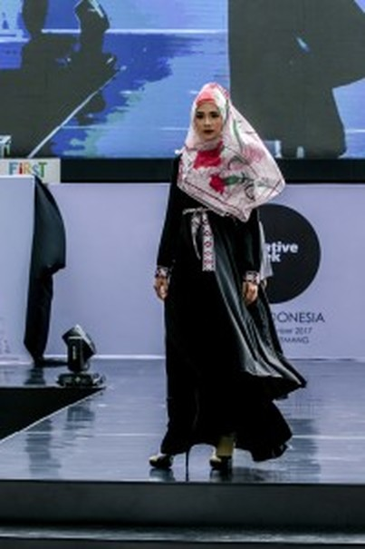 A dress by Fitri Aulia. (Photo courtesy of IFC Jakarta)