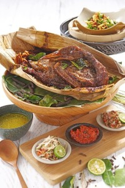 Putu Made's slow roasted duck Bebek Betutu. (Photo courtesy of Putu Made restaurant)