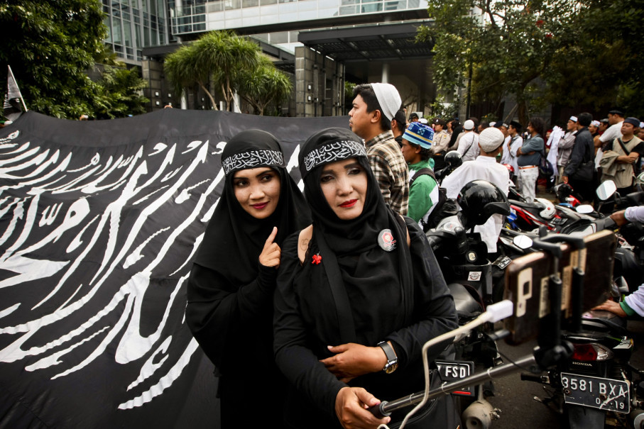 Protest leaders called on Facebook to leave Indonesia if it does not amend its policies. (JG Photo/Yudha Baskoro)