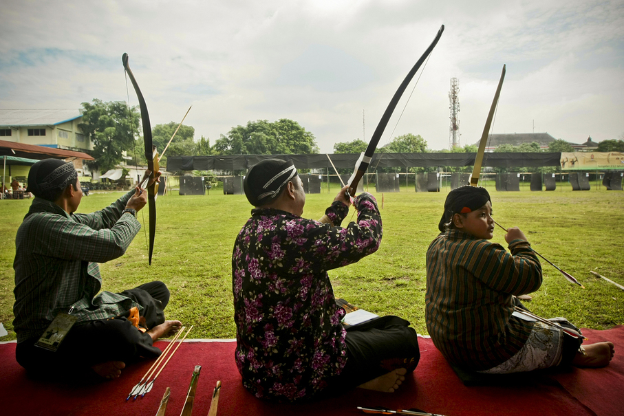 The distance of the target is 32 meters, the average length of a palace pendopo. (JG Photo/Yudha Baskoro)