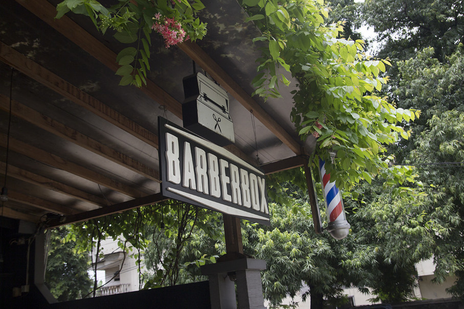 The entrance to Barberbox Senopati. (Photo courtesy of Barberbox)