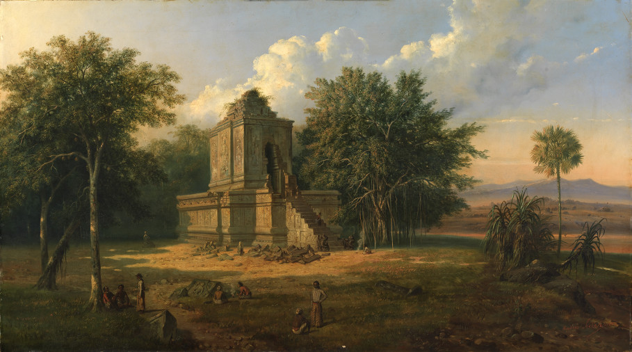 'Javanese Temple in Ruins' by Raden Saleh. (Photo courtesy of National Gallery Singapore)