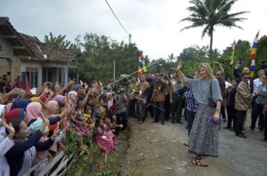 Maxima visits Lampung. (Antara Photo/Ardiansyah)