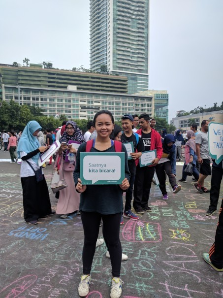 Anindya 'Vivi' Restuviani, partnership coordinator of Women's March Jakarta 2018. (Photo courtesy of Hollaback! Jakarta)