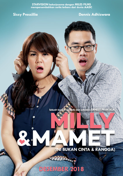 Official poster of 'Milly & Mamet.' (Photo courtesy of Starvision Plus and Miles Films)