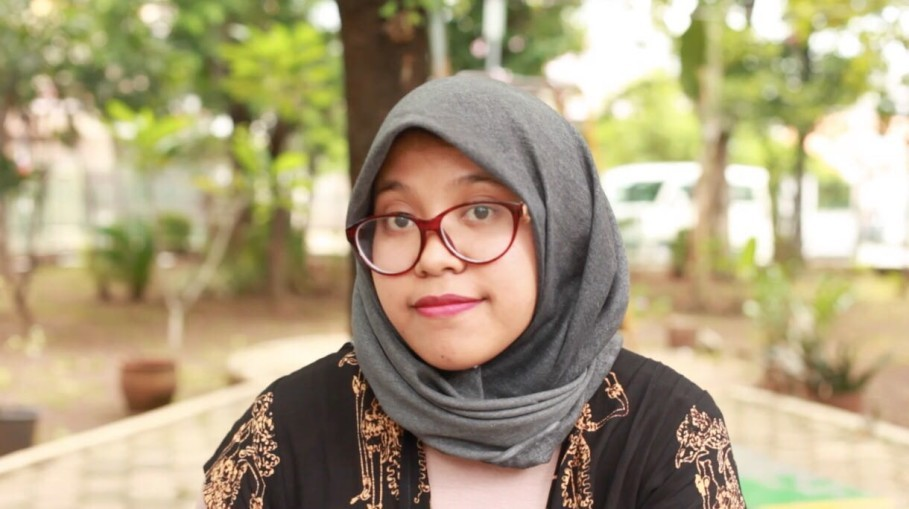 Naila Rizqi Zakiah, deputy organizer of Women's March Jakarta 2018. (Photo courtesy of Naila Rizqi Zakiah's personal collection)