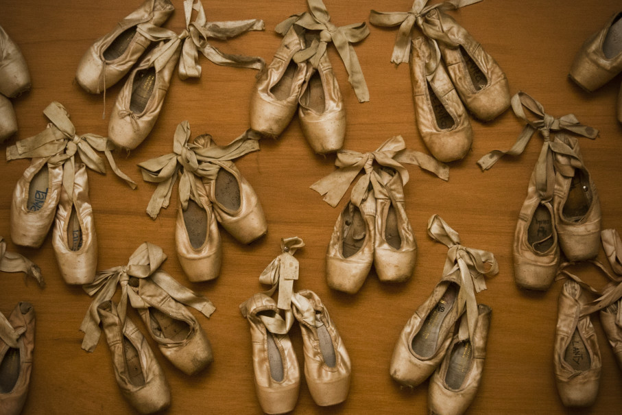 Pointe shoe are worn by ballet dancers for pointe work, or dancing that is performed on the tips of the toes. (JG Photo/Yudha Baskoro)