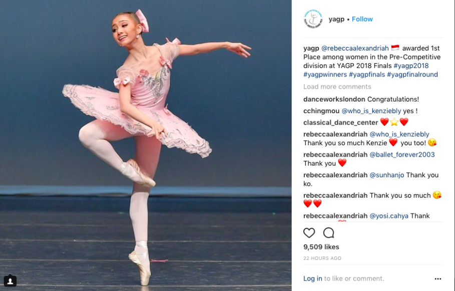Rebecca Alexandria won first place in the pre-competitive category at the 2018 Youth American Grand Prix. (JG Screenshot)