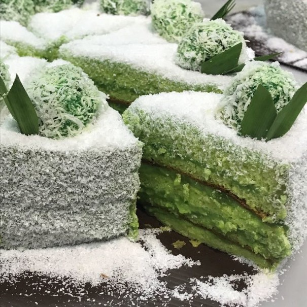 Elevate Bakery's 'Klepon' vegan and gluten-free cake. (Photo Courtesy of Elevate Bakery)