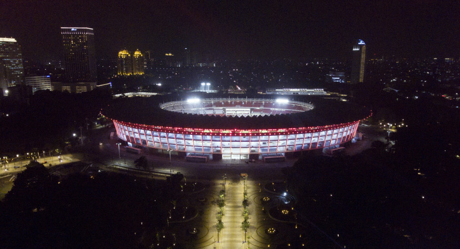 A general view of Gelora Bung Karno Main Stadium. (Antara Photo/Wahyu Putro A.)