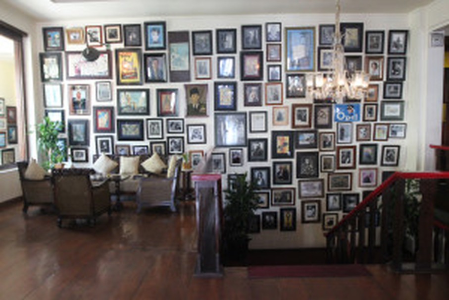 James Graham's private collection of photographs at Cafe Batavia in Jakarta. (JG Photo/Yudhi Sukma Wijaya)
