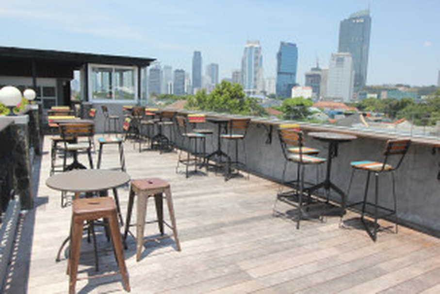 Plataran's cozy rooftop is a perfect place for small cocktail parties. (JG Photo/Yudhi Sukma Wijaya)