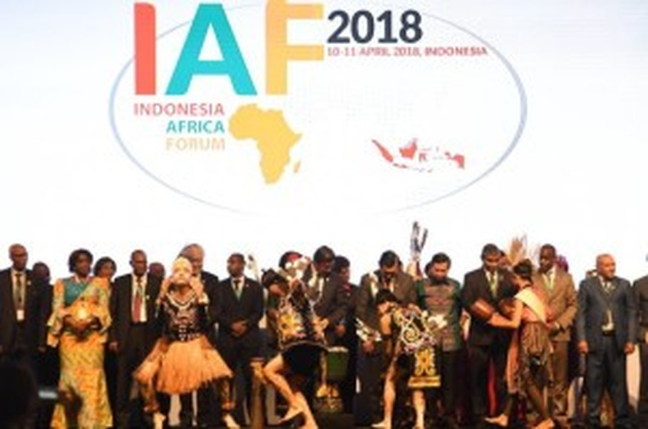 A cultural performance during the opening of the Indonesia-Africa Forum, or IAF, 2018 in Bali on April 10. (Photo courtesy of IAF website)