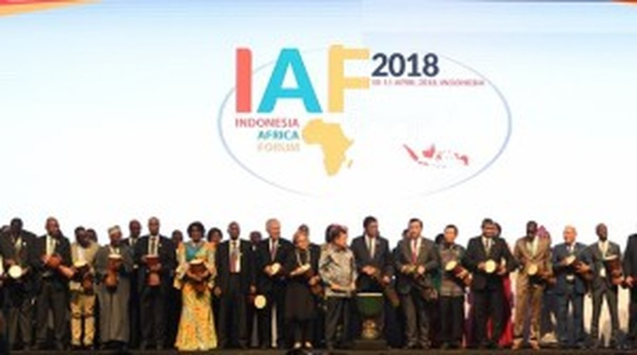 The opening of Indonesia-Africa Forum, or IAF, 2018 in Bali, on April 10. (Photo courtesy of IAF website)