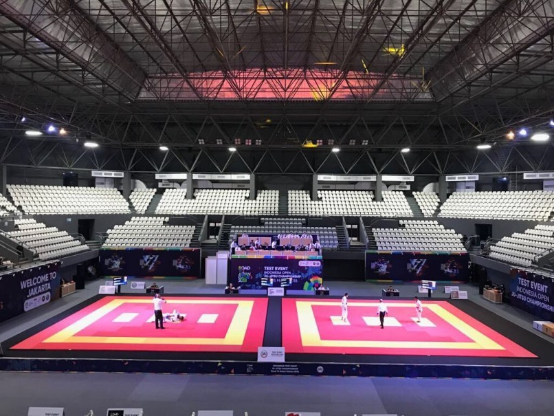 Gelora Bung Karno Indoor Tennis Hall can also be used for volleyball and jujitsu. (Photo courtesy of Inasgoc)