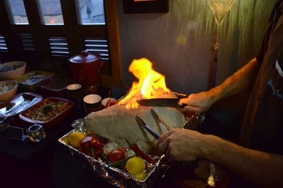 Tuzda Bebek Kuzu (baby lamb baked in salt) being prepared at Warung Turki. (JG Photo/Cahya Nugraha)