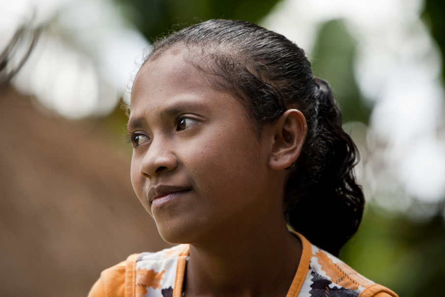 Mirna, 14, a junior high school student in South Central Timor, East Nusa Tenggara, lives in a remote area that is a 2-hour drive from the district capital.(JG Photo/Yudha Baskoro)