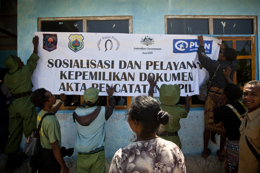 According to Plan International, nearly 80 percent of children in East Nusa Tenggara did not have their birth certificates in 2015. (JG Photo / Yudha Baskoro)