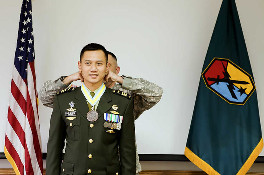 Agus is a retired infantry major. (Photo courtesy of Agus Harimurti Yudhoyono)