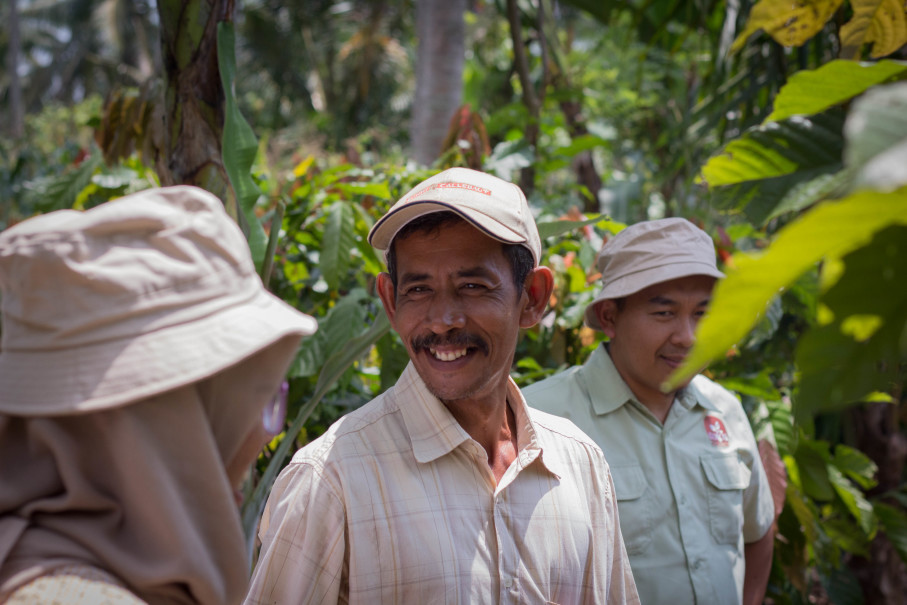 Sutaji, a cocoa farmer from Lampung. (Photo courtesy of Barry Callebaut)