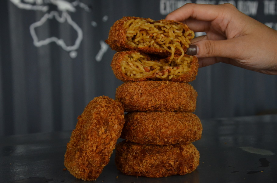 TOT AW serves six types of Indomie donuts. (JG Photo/Cahya Nugraha)