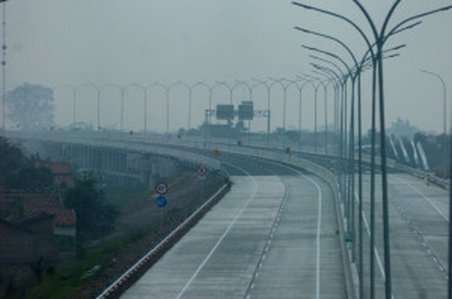 A section of the newly opened Pejagan-Pemalang Toll Road in Central Java. (Antara Photo/Oky Lukmansyah)