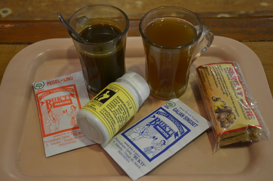 Warung Jamu Bukti Mentjos serves jamu as a drink, capsules and powder. (JG Photo/Cahya Nugraha)