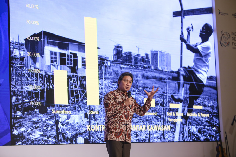 Hilmar Farid, director general of culture at the Education and Culture Ministry, at Indonesia Development Forum 2018 in Jakarta on July 11. (Photo courtesy of Indonesia Development Forum)
