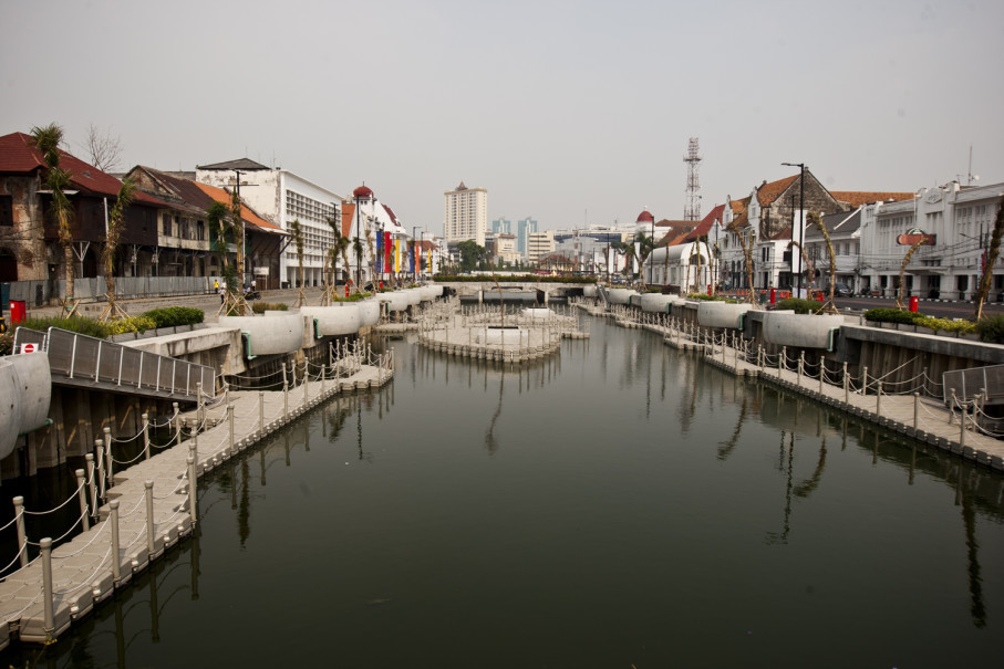 The Jakarta administration revitalized the Kali Besar canal ahead of the 2018 Asian Games (JG Photo/Yudha Baskoro)