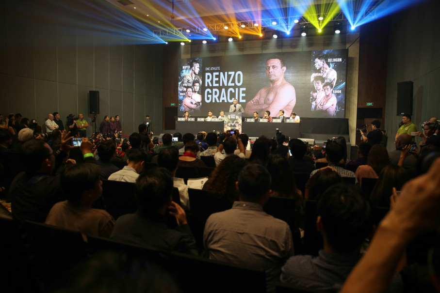 Brazilian Jiu-Jitsu legend Renzo Gracie speaks at a press conference in Manila, Tuesday (24/07). (Photo courtesy of ONE Championship)