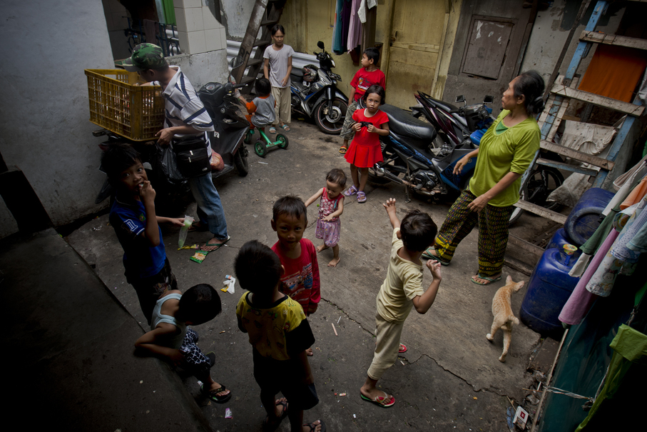 There is no space for children to play. (JG Photo/Yudha Baskoro)