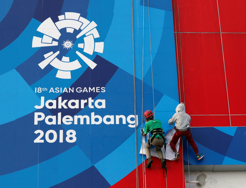 The Asian Games, hosted by Jakarta and Palembang, are set to start on Saturday. (Reuters Photo/Edgar Su)