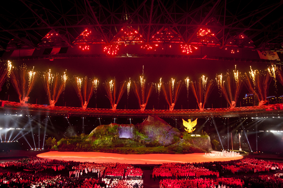 The Indonesia Asian Games Organizing Committee has invited 30,000 guests to the opening ceremony (JG Photo/Yudha Baskoro)