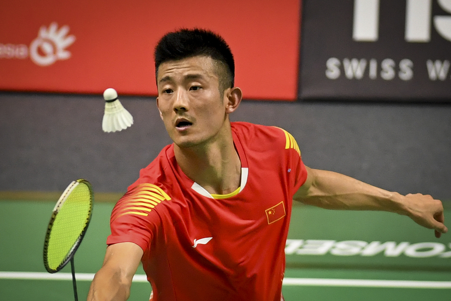 China's Chen Long plays against Indonesia's Jonatan Christie. (JG Photo/Yudha Baskoro)
