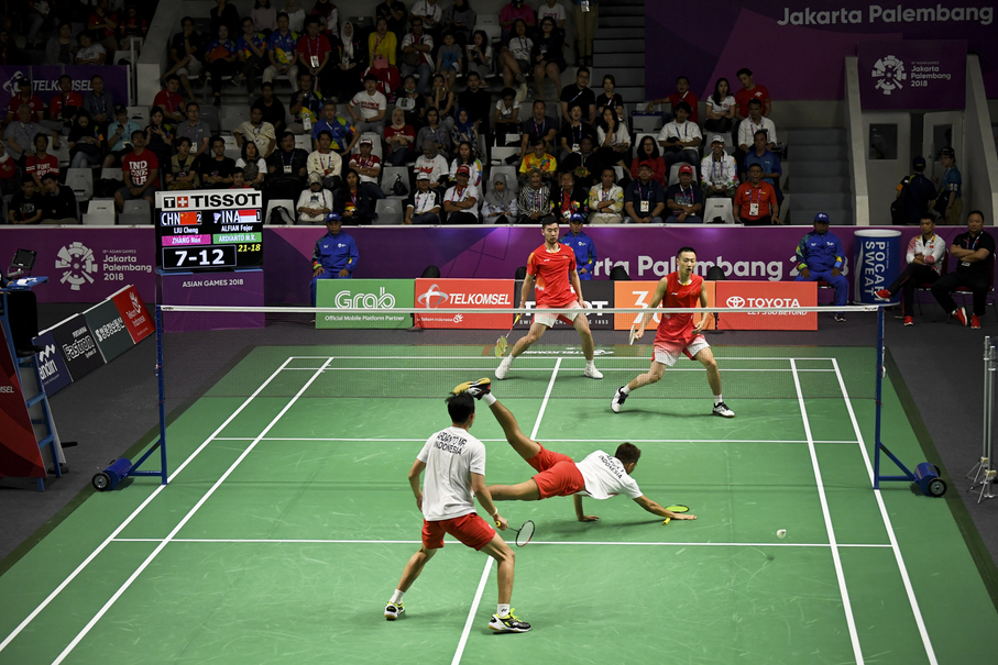 Fajar Alfian and Muhammad Rian Ardianto face China's Zhang Nan and Liu Cheng. (JG Photo/Yudha Baskoro)