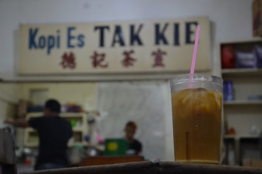 Tak Kie's iced coffee recipe has remained unchanged since 1927. (JG Photo/Cahya Nugraha)