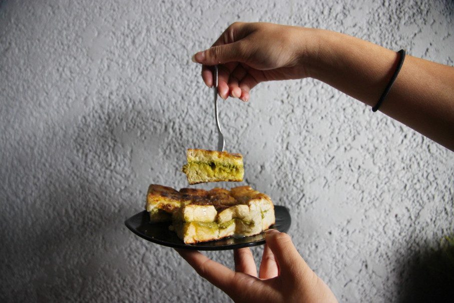 Roti Bakar Kemang's Green Tea Kit Kat Roti Bakar. (JG Photo/Jeremy Siregar)