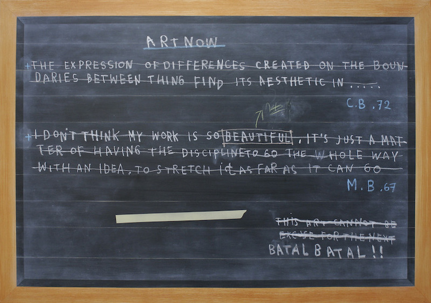'Blackboard Painting, Footnote #2' by Jumaldi Alfi (2012). (Photo courtesy of PartNER Yogyakarta)