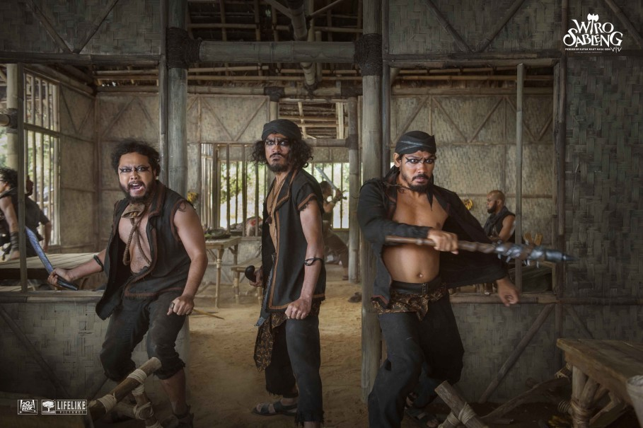 Three of the Four Bearded Men in warok attire. (Photo courtesy of Lifelike Pictures)