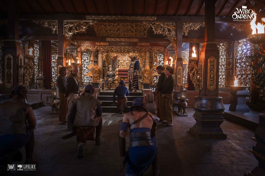 The throne room in King Kamandaka's palace. (Photo courtesy of Lifelike Pictures)