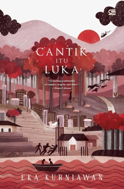 The 15th anniversary edition cover for Eka Kurniawan's 'Cantik Itu Luka,' released last year. (Photo courtesy of Gramedia.com)