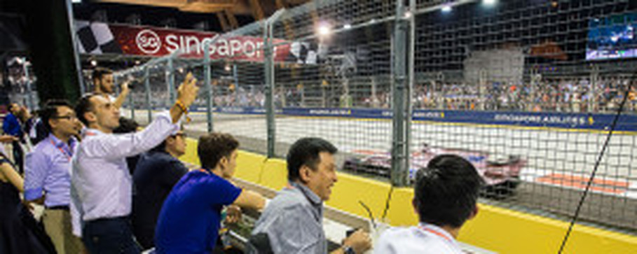 The Formula One Paddock Club. (Photo courtesy of Singapore Grand Prix)