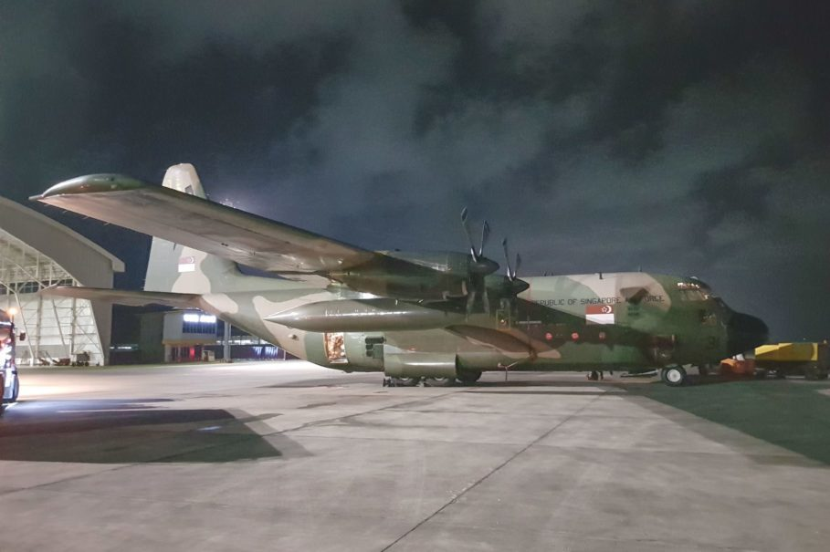 A Singapore Air Force Lockheed C-130 Hercules transport aircraft. (Photo courtesy of Singaporean Ministry of Defense)