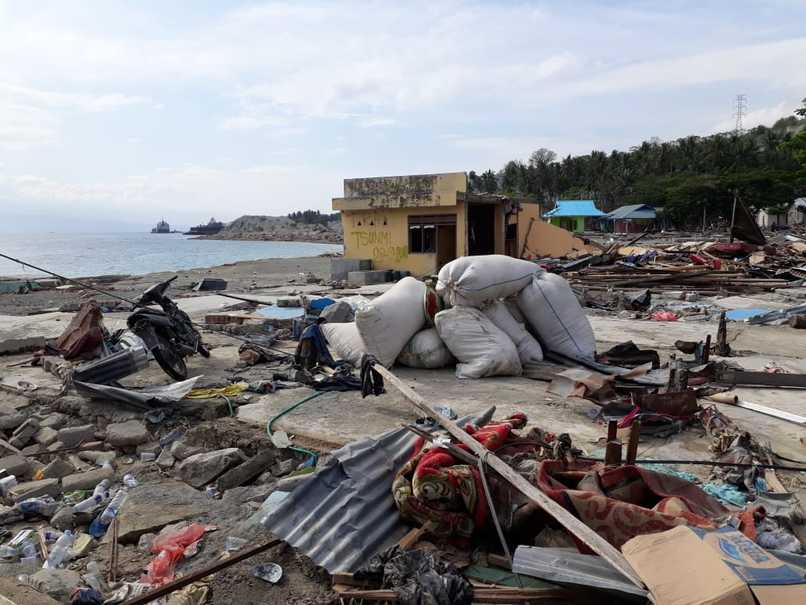 Loly village in Donggala district was directly impacted by the twin disasters. (JG Photo/Telly Nathalia)