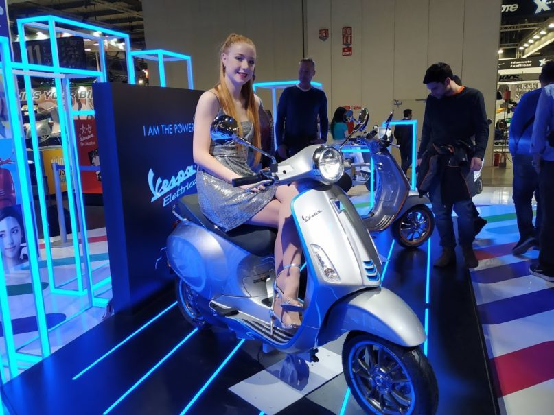 The Vespa Elettrica entered production last month, offering an environmentally friendly alternative to a standard 50cc scooter. It is designed to travel 100 kilometers on a four-hour charge. (JG Photo/Dion Bisara)