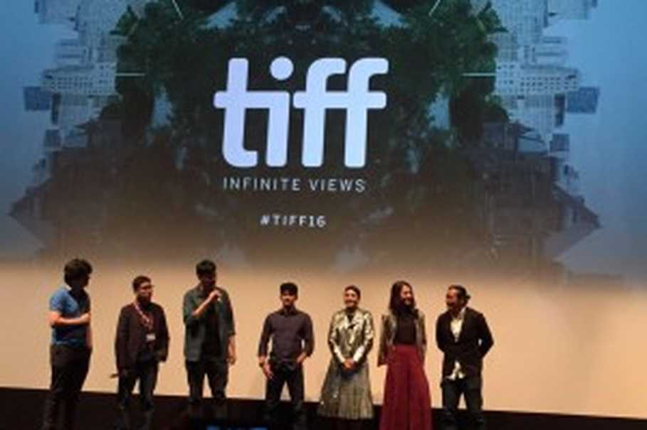 The cast and crew of 'Headshot' at the Toronto International Film Festival. (Photo courtesy of Screenplay Infinite Films)