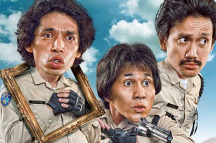 Dono, Kasino, Indro rebooted in Warkop DKI Reborn: Jangkrik Boss! (Photo courtesy of Falcon Pictures)