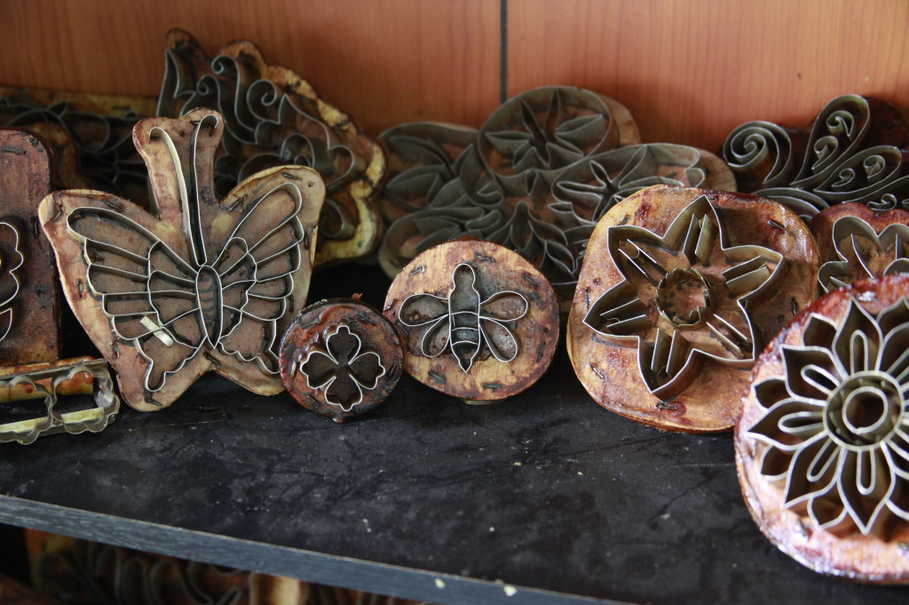 Wooden stamps used by Rumah Batik Andalan to make batik. (Photo courtesy of RAPP/Reza Amirul Juniarshah)